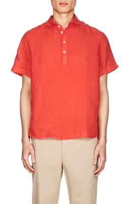 Barena Venezia Linen Short-Sleeve Shirt - Red