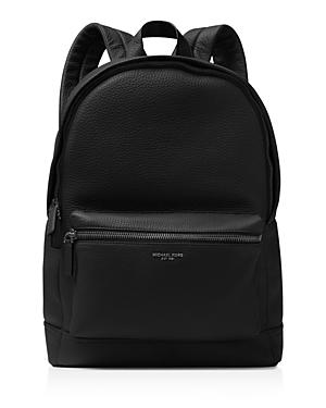6959439167ad Michael Kors Bryant Pebble-Textured Leather Backpack In Black | ModeSens