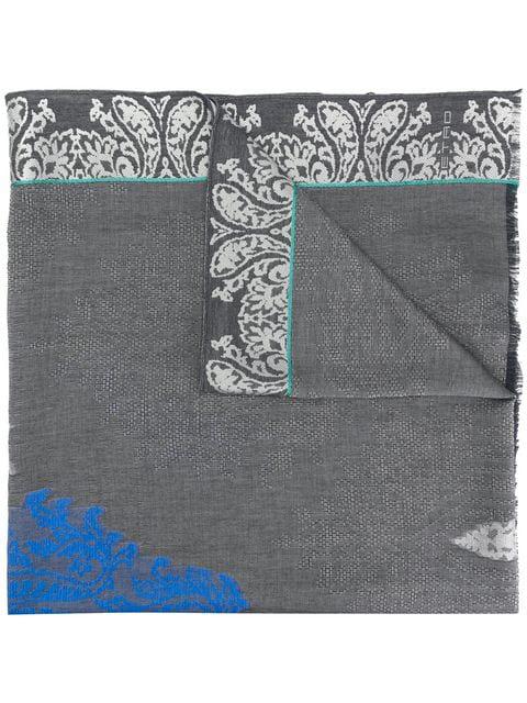 Etro Paisley Print Scarf - Grey