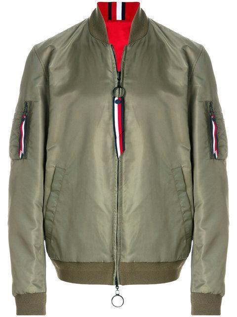 Tommy Hilfiger Reversible Bomber Jacket In Green