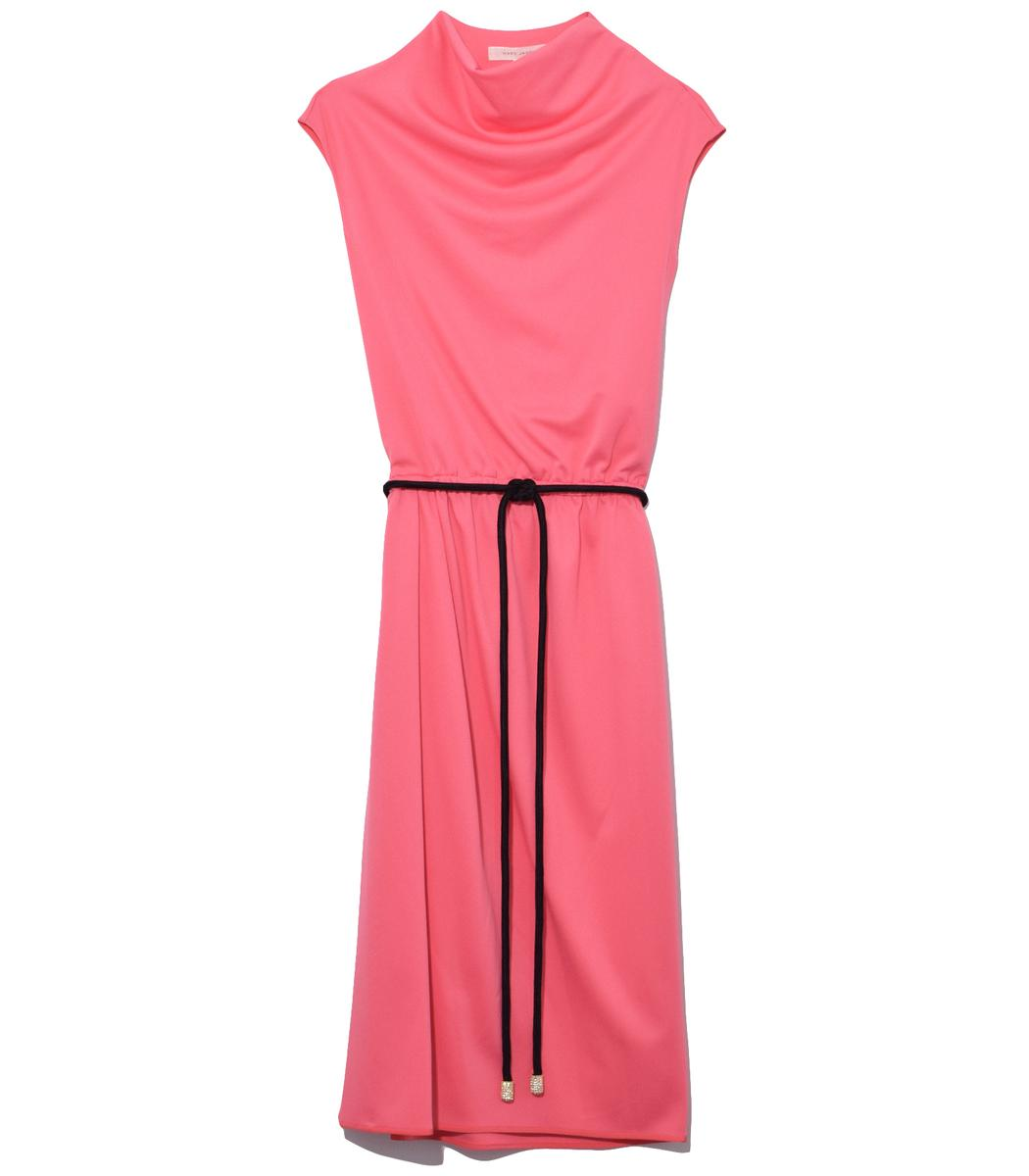 Draped Cowl Neck Dress: Marc Jacobs Draped Cowl Neck Dress In Pink