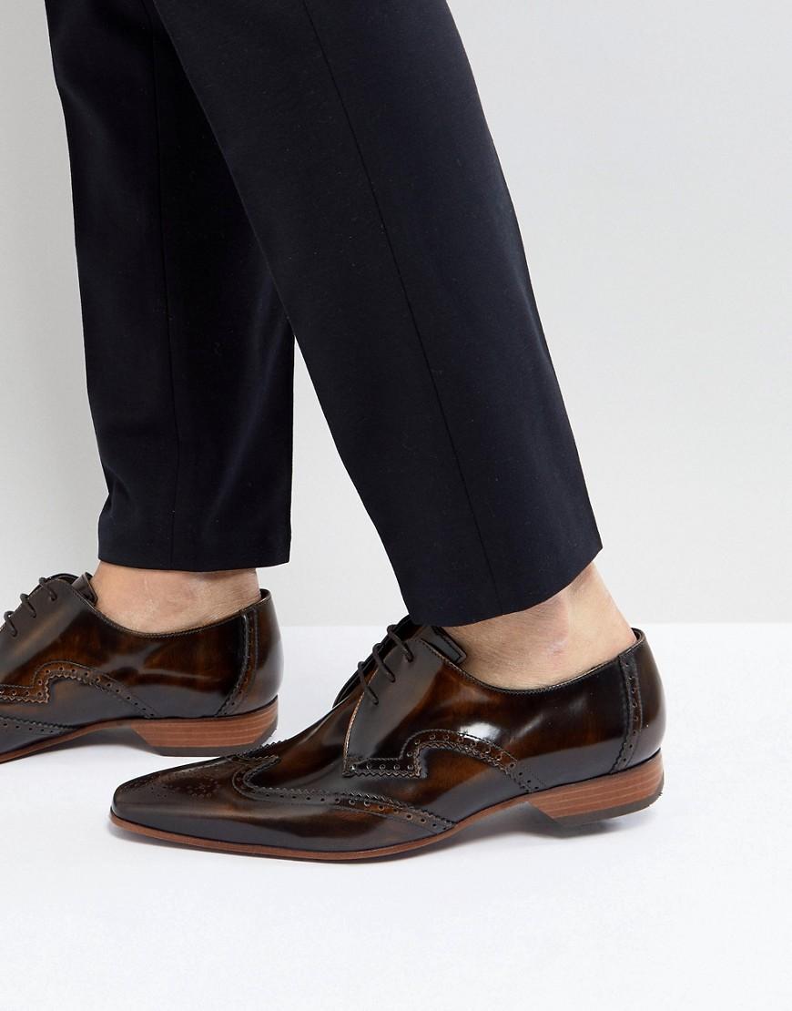 00b73e5ece Jeffery West Escobar Brogue Shoes In Brown - Brown