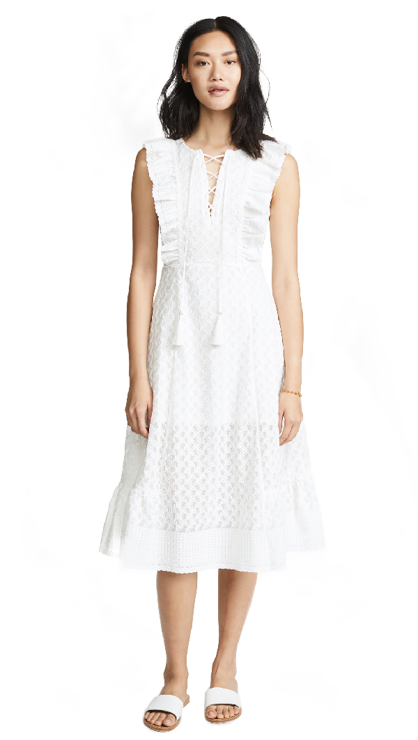 d3f4a83133 Red Carter Reghan Sleeveless Embroidered Midi Dress In Ivory | ModeSens