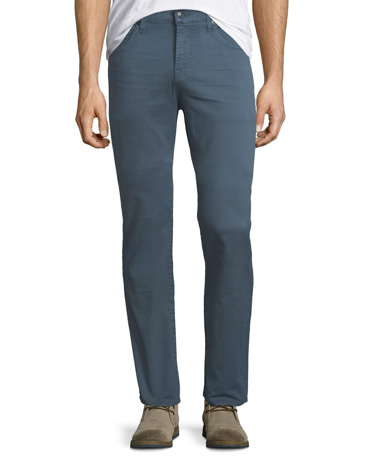 7 For All Mankind Men's Clean-Pocket Straight-Leg Jeans In Blue Wave