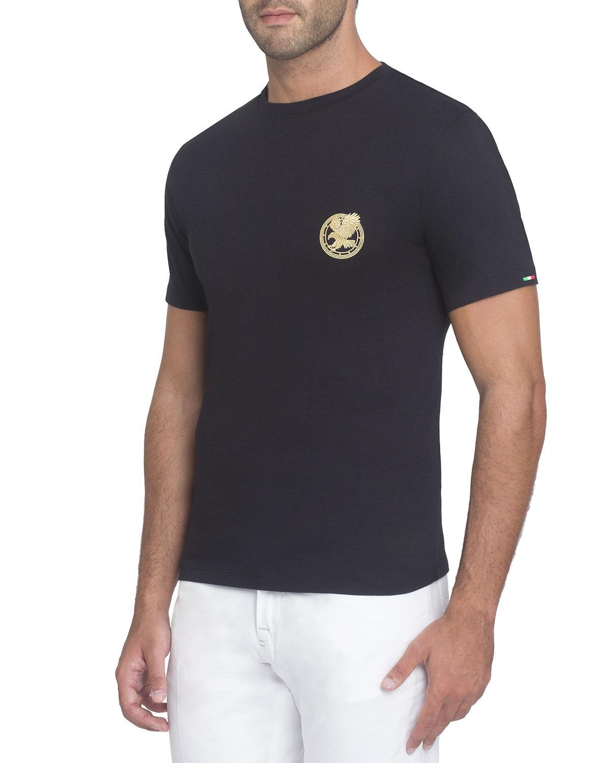 d20dd9c467 Stefano Ricci Embroidered Jersey T-Shirt In Black | ModeSens