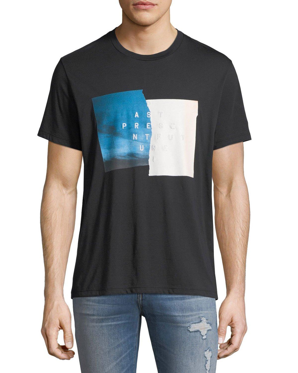 7 For All Mankind Men's Past Present Future Graphic T-Shirt In Black
