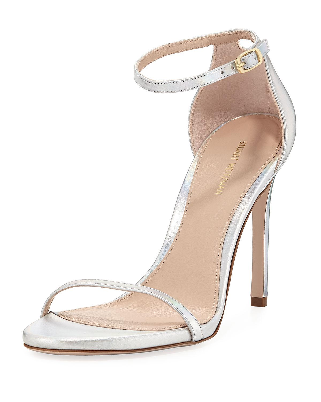 f657a1df5299 Stuart Weitzman sandal in metallic leather. 4