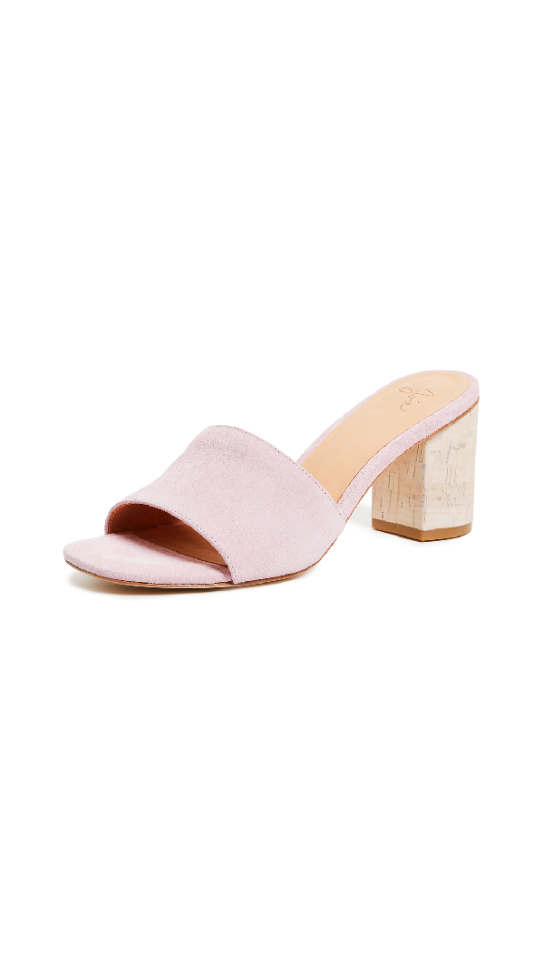 a4a86eda57e Joie Tapford Suede Slide Sandal With Cork Heel In Orchid Pink