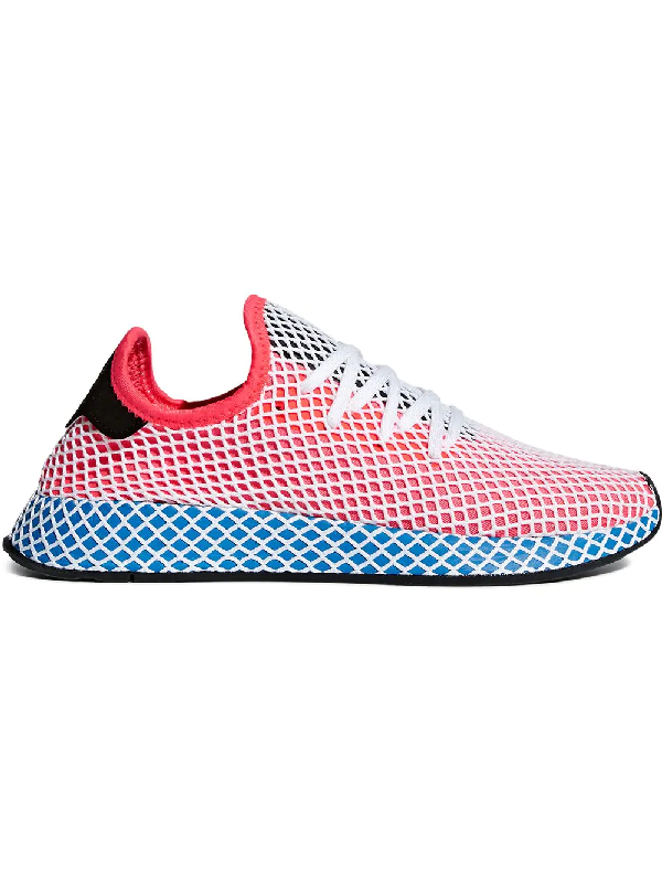 a2e355ede Adidas Originals Sneakers Adidas Deerupt Runner Sneakers In Knit And Mesh  Stretch Net Effect In Blue