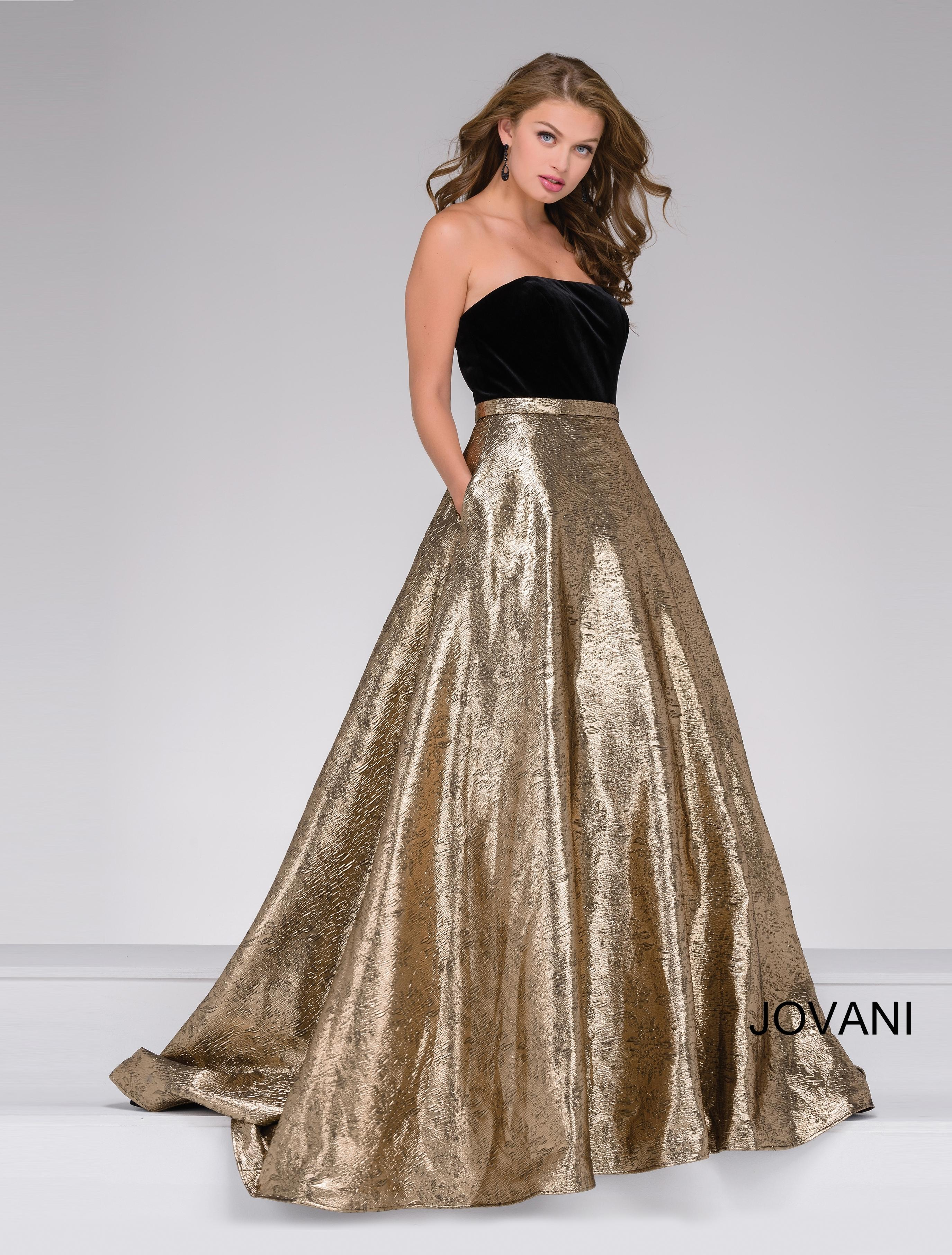 caf36486f958 Jovani Gold Evening Gown