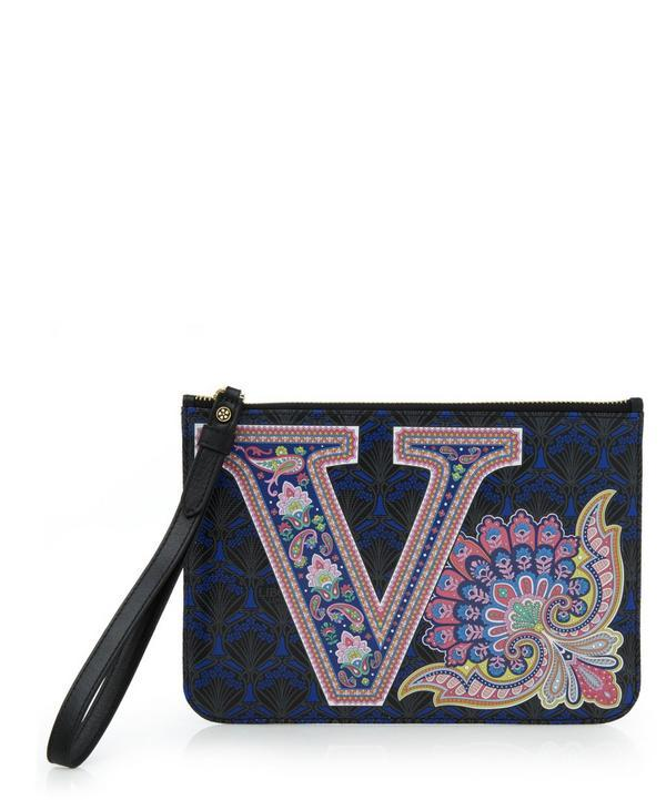Liberty London Wristlet In V Print In Wentworth Paisley