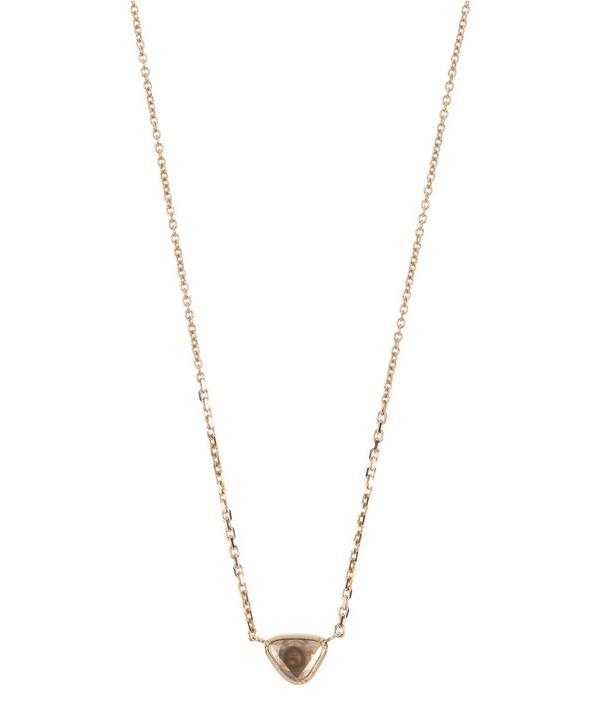 Brooke Gregson Diamond Slice Teardrop Necklace In Gold