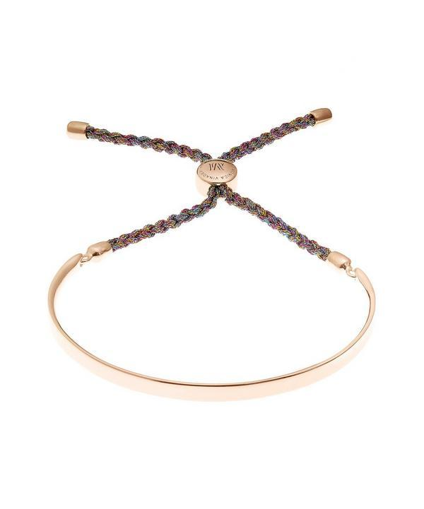 21fe513800655 Rose Gold Vermeil Fiji Cord Friendship Bracelet
