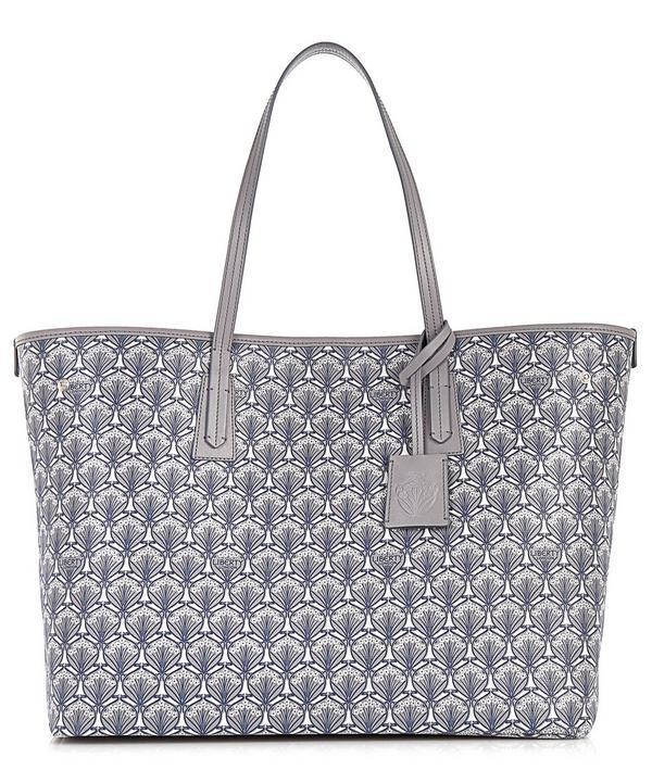 Liberty London Marlborough Iphis Canvas Tote Bag In Light Grey