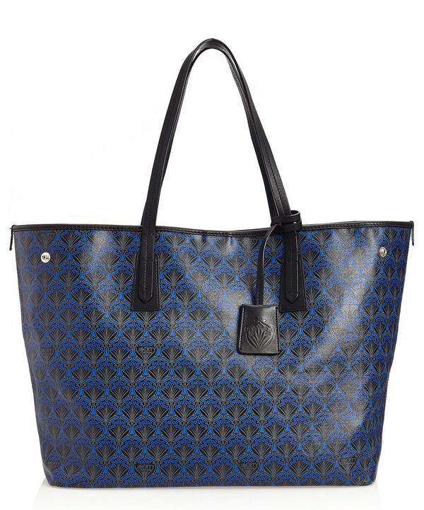 Liberty London Marlborough Iphis Canvas Tote Bag In Dark Blue