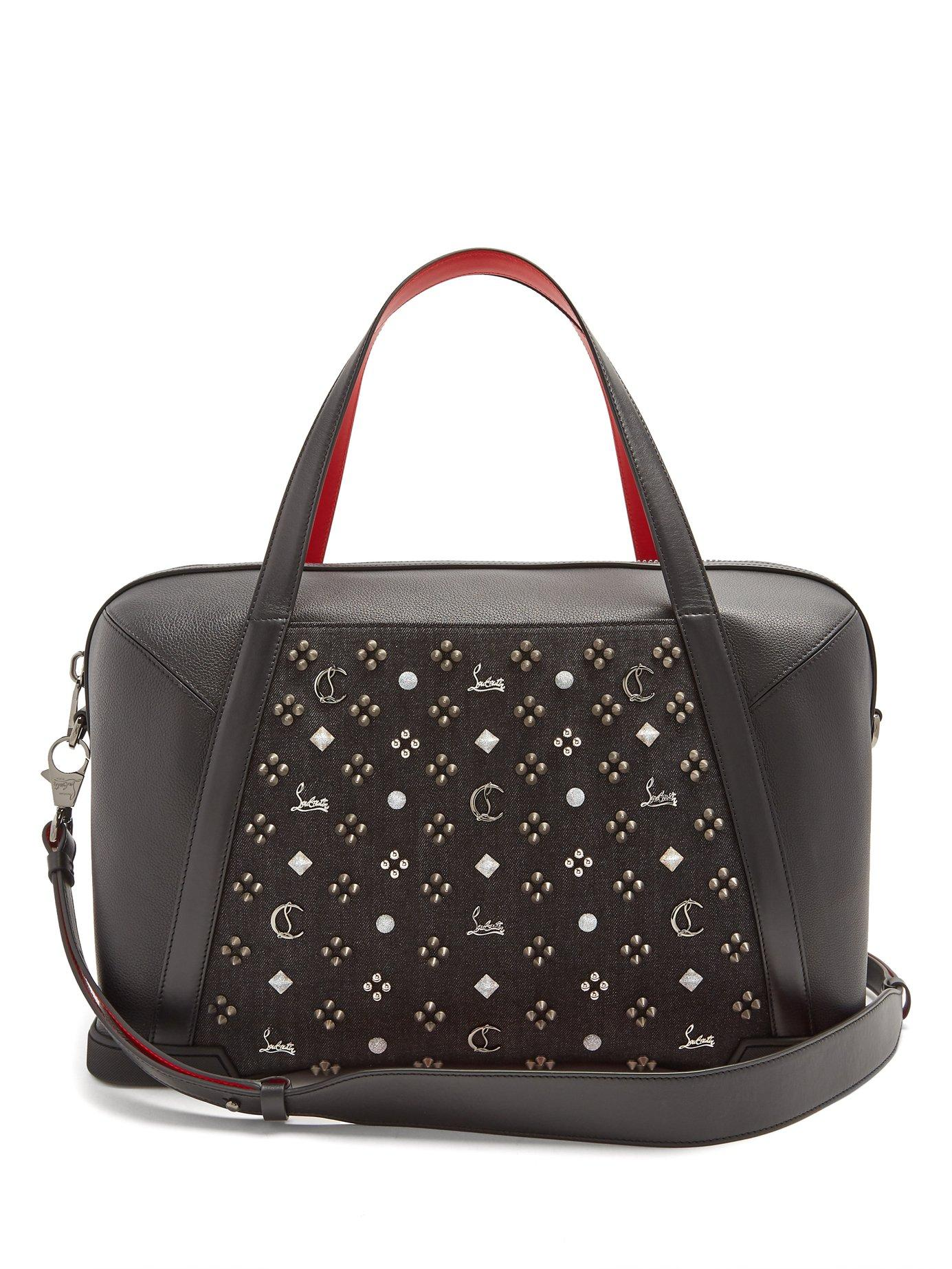 9249ece4912 Bagdamon Spike-Embellished Leather Holdall in Black