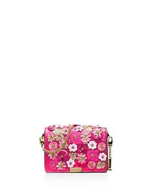 e97d4d53d609 Michael Michael Kors Jade Medium Leather Gusset Clutch In Ultra Pink Gold