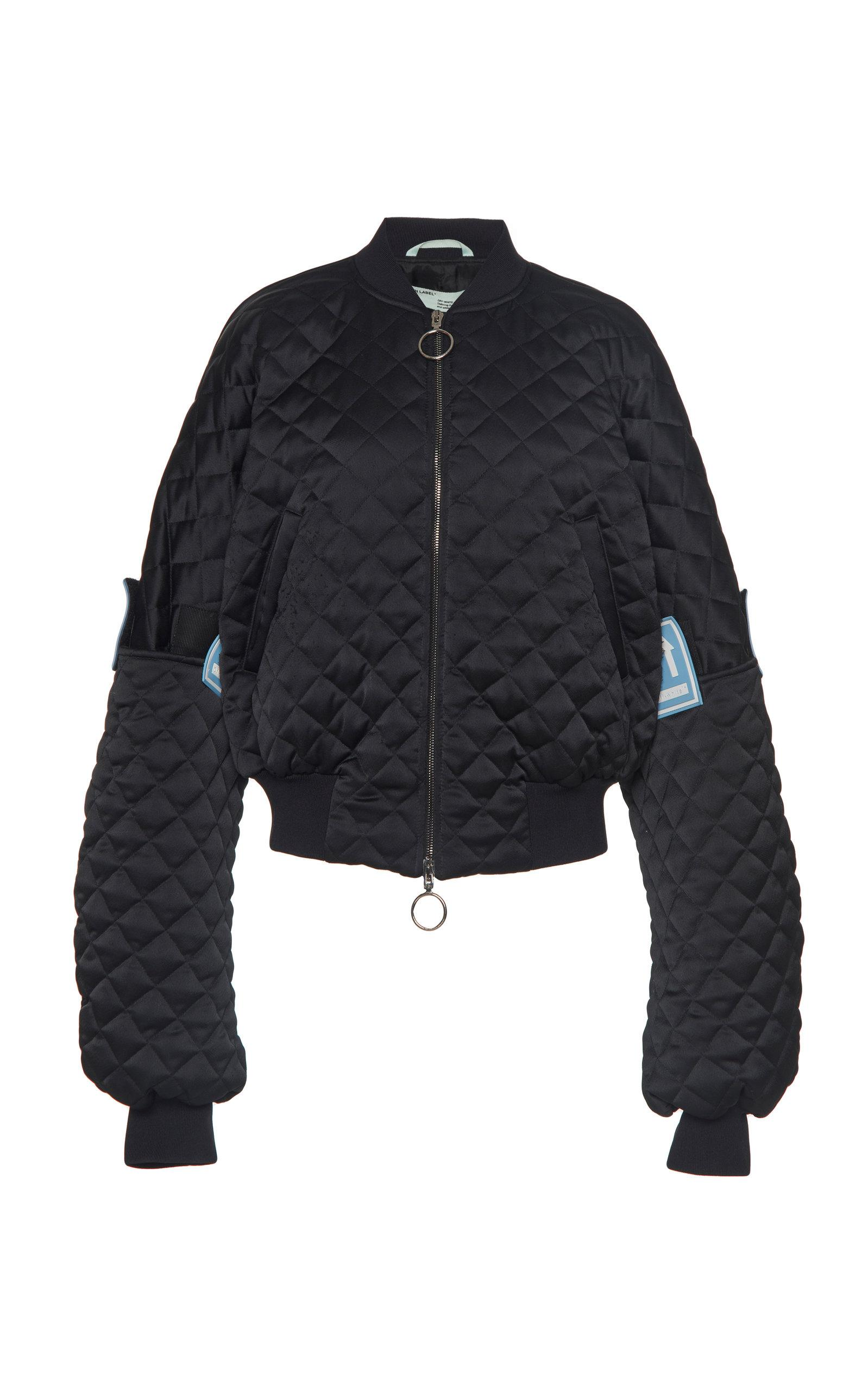 79c011ddd Quilted Oversized Bomber Jacket in Black