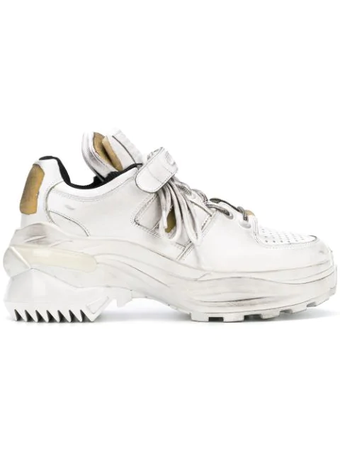 Maison Margiela Martin Margiela Martin Margiela Touch Strap Sneaker In White