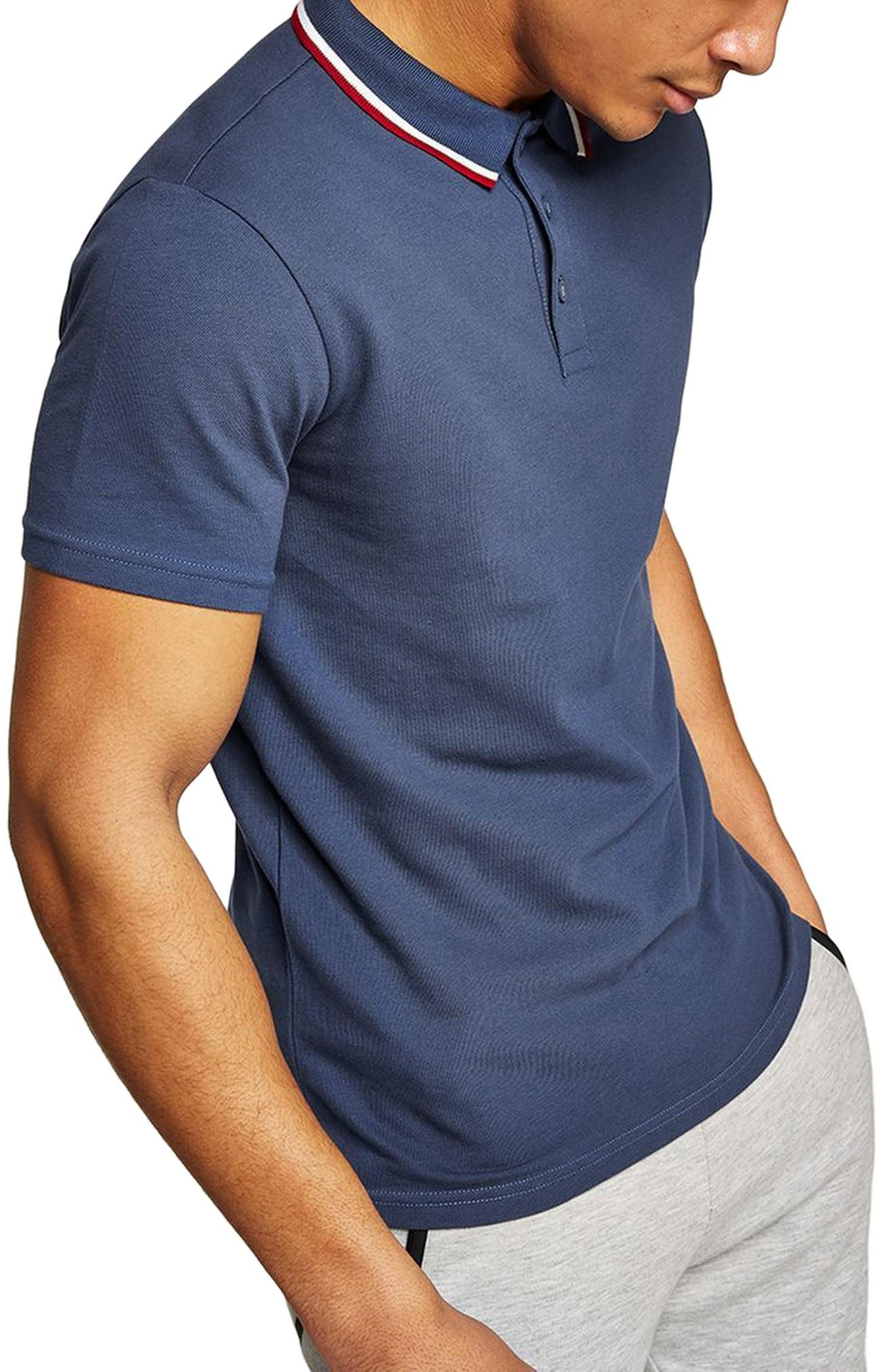 6f83ce20 Topman Muscle Fit Polo In Navy | ModeSens