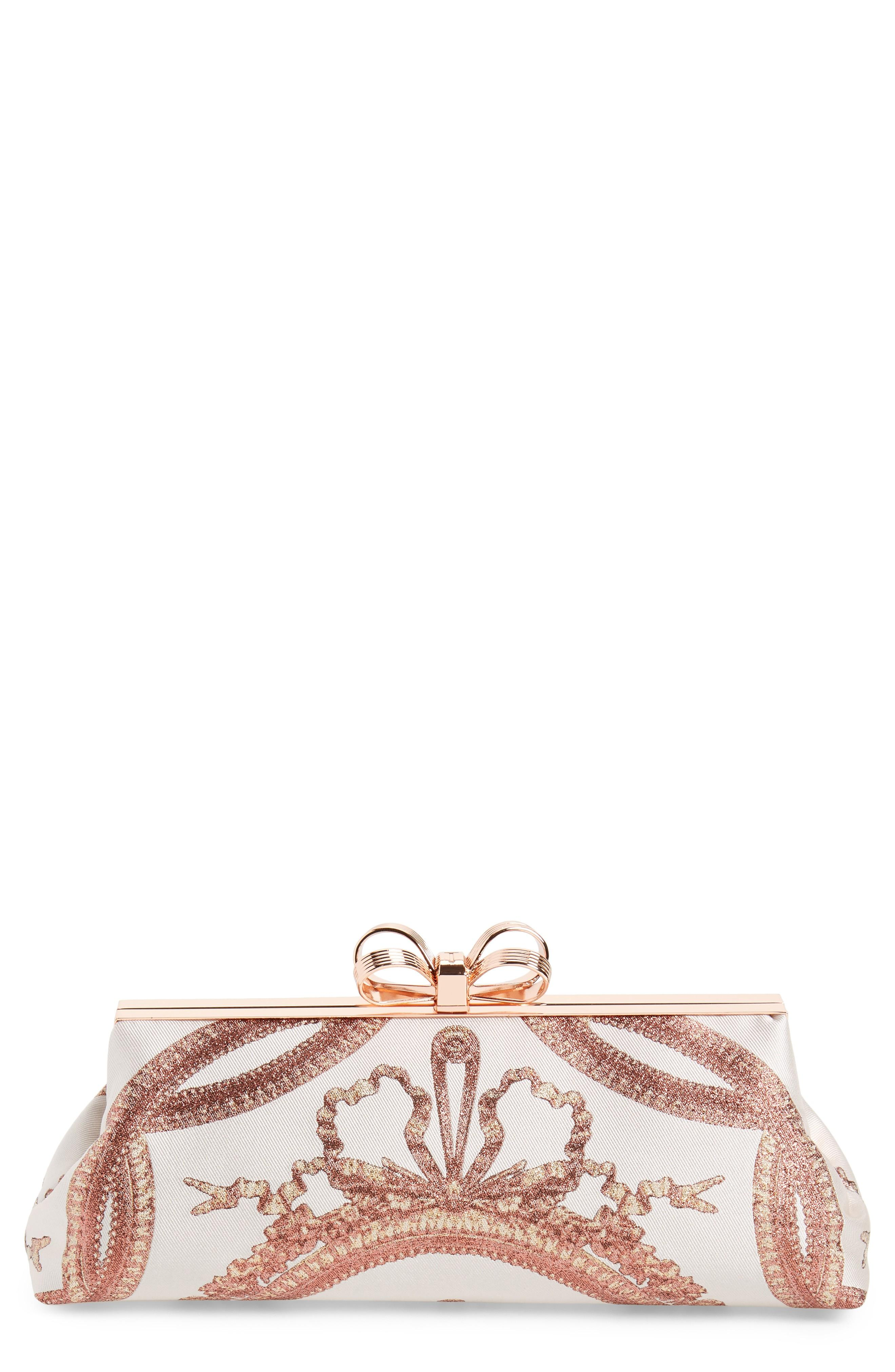 6d24ed03dc Ted Baker Karlii - Versailles Print Frame Clutch - Pink In Dusky Pink