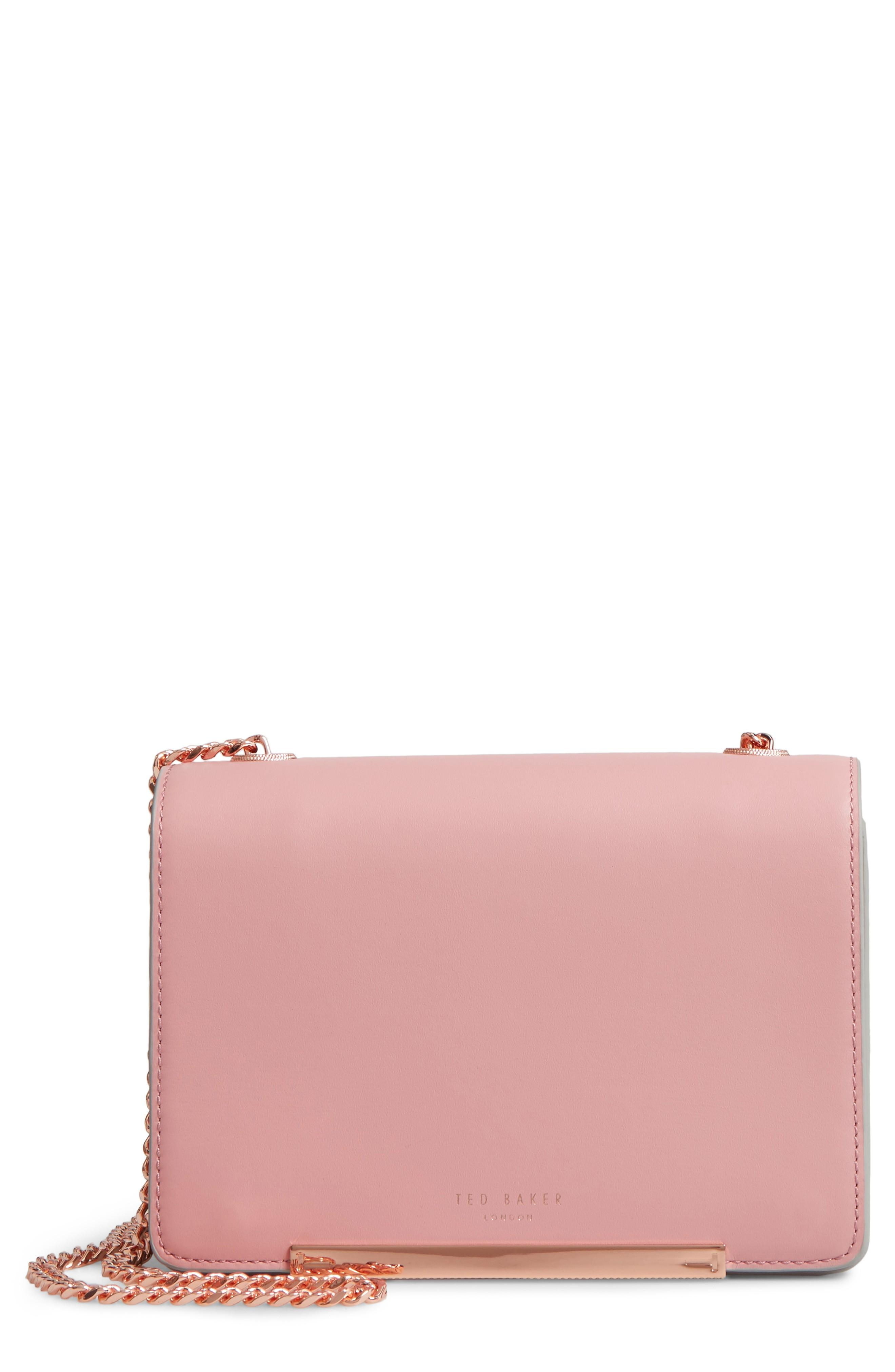 20b6ced9c Ted Baker Earie Leather Crossbody Bag - Pink In Dusky Pink