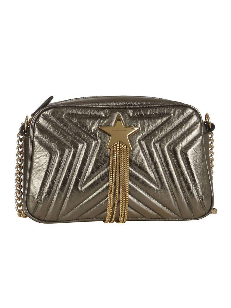 Stella Mccartney Small Metallic Star Patch Shoulder Bag In Kaki