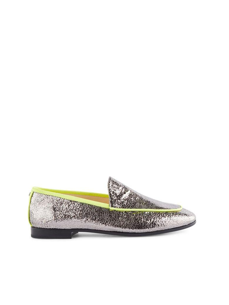Fabi Flat Shoes In Acciaio+fluo