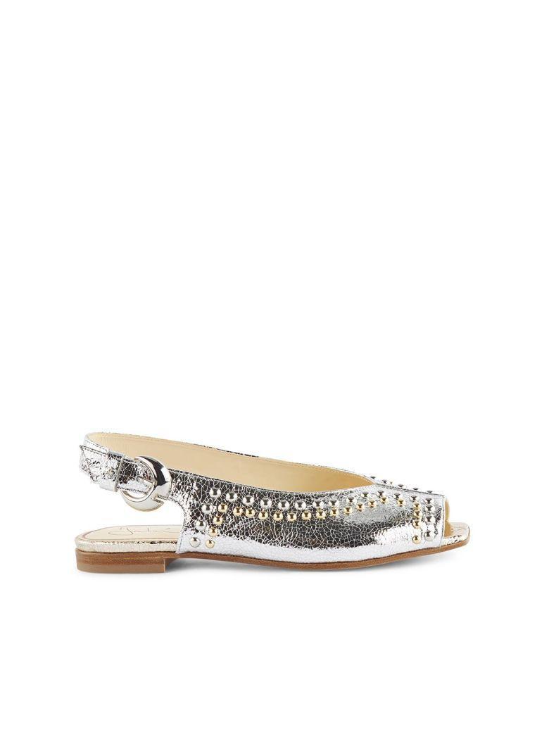 Fabi Sandals In Bianco+beige