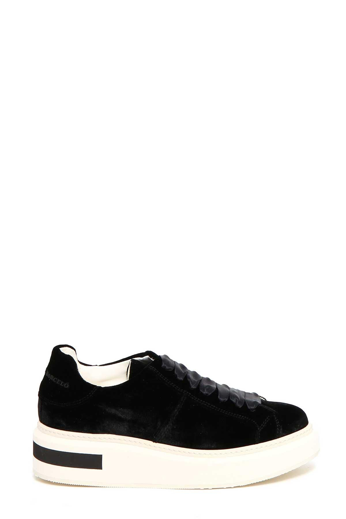 Manuel BarcelÒ Velvet Sneaker In Nero