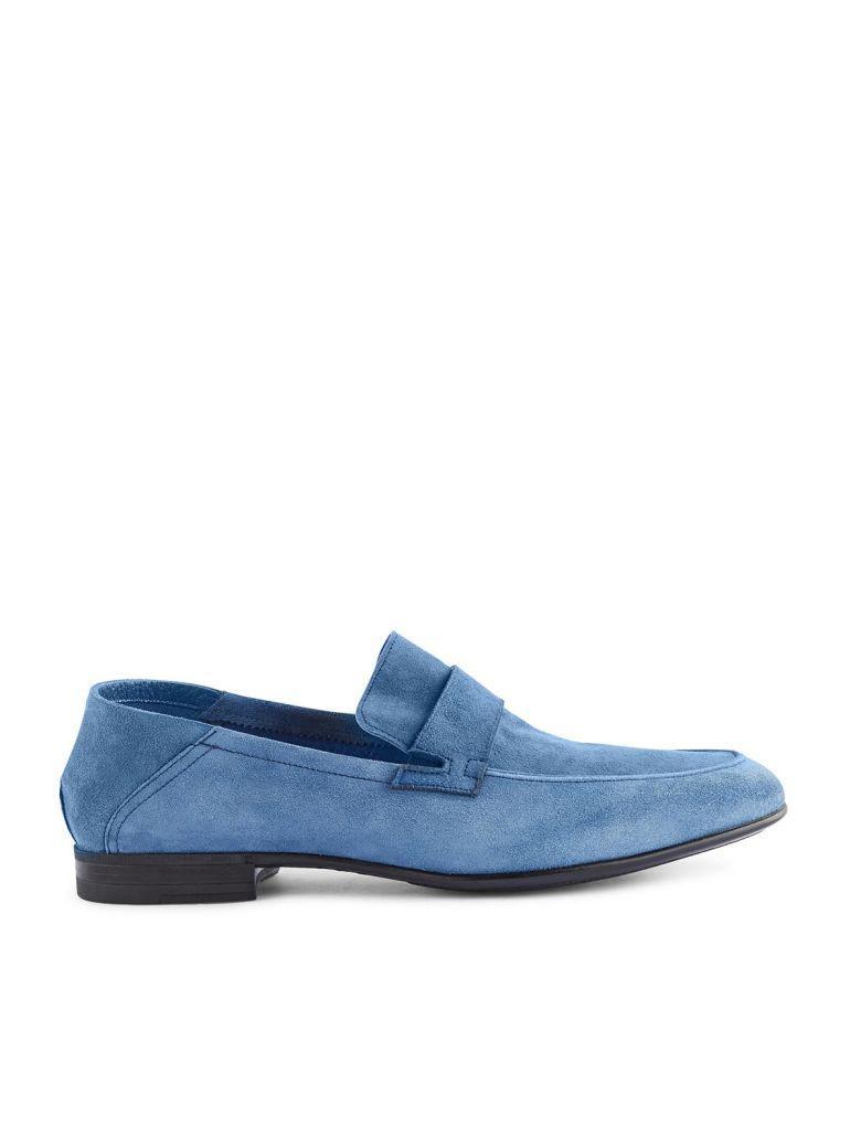 Fabi Loafers In Blu Elettrico