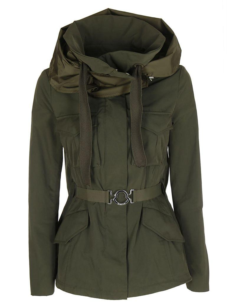 Moncler Sodalite Hooded Military Jacket In Verde