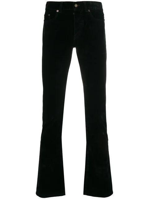 Saint Laurent Classic Slim Fit Jeans In Black