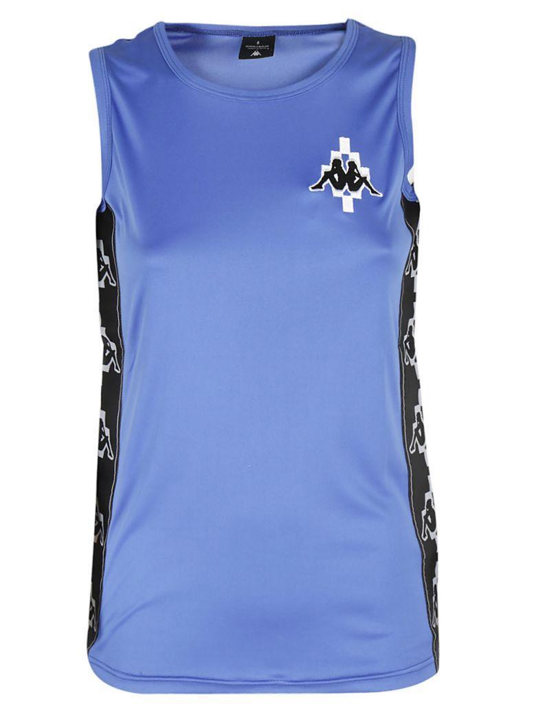Marcelo Burlon County Of Milan Logo Tank Top In Bianco-blu
