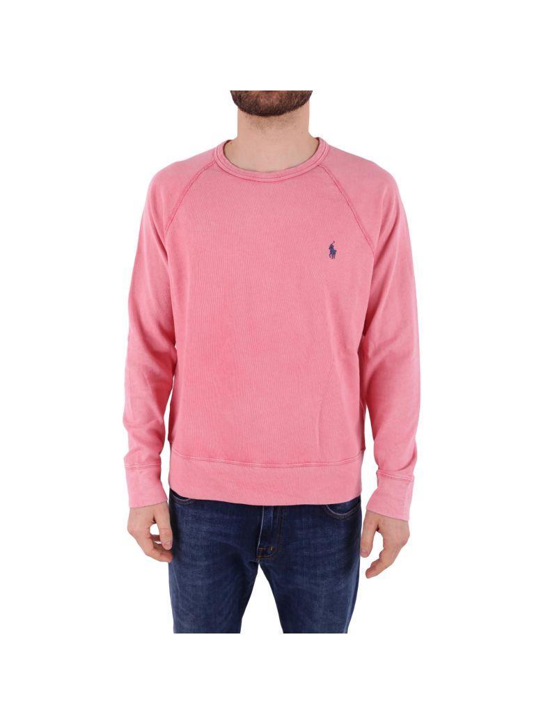 Ralph Lauren Cotton Sweatshirt In Dark Pink