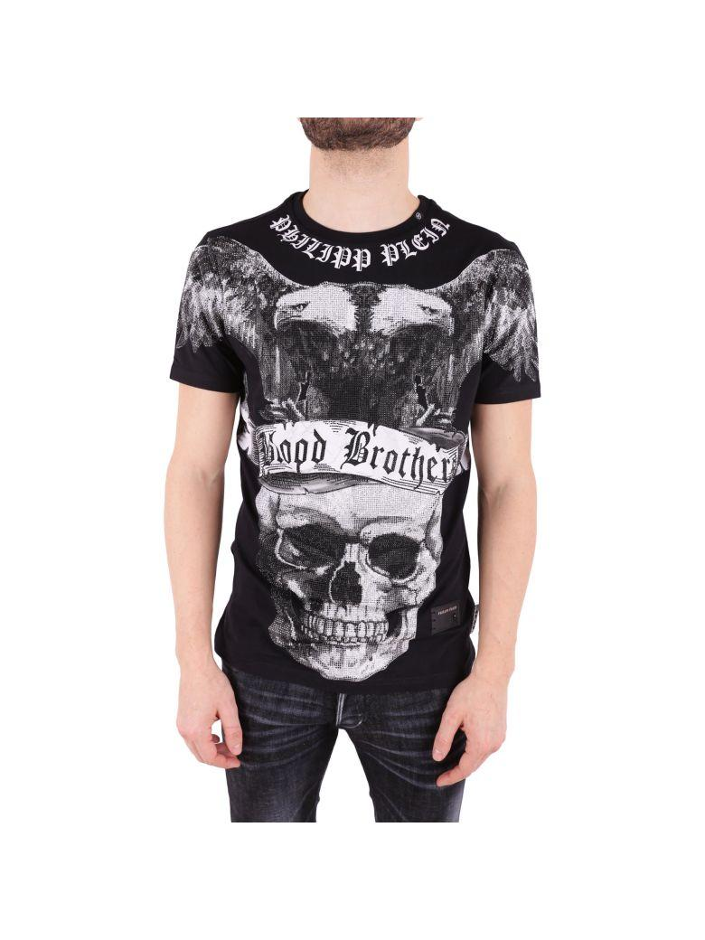 Philipp Plein Lips Cotton T-shirt In Black