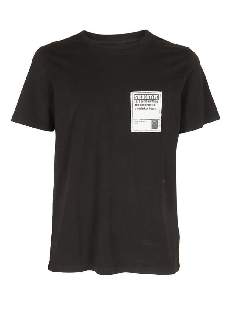 Maison Margiela Label Patch T-shirt In Nero