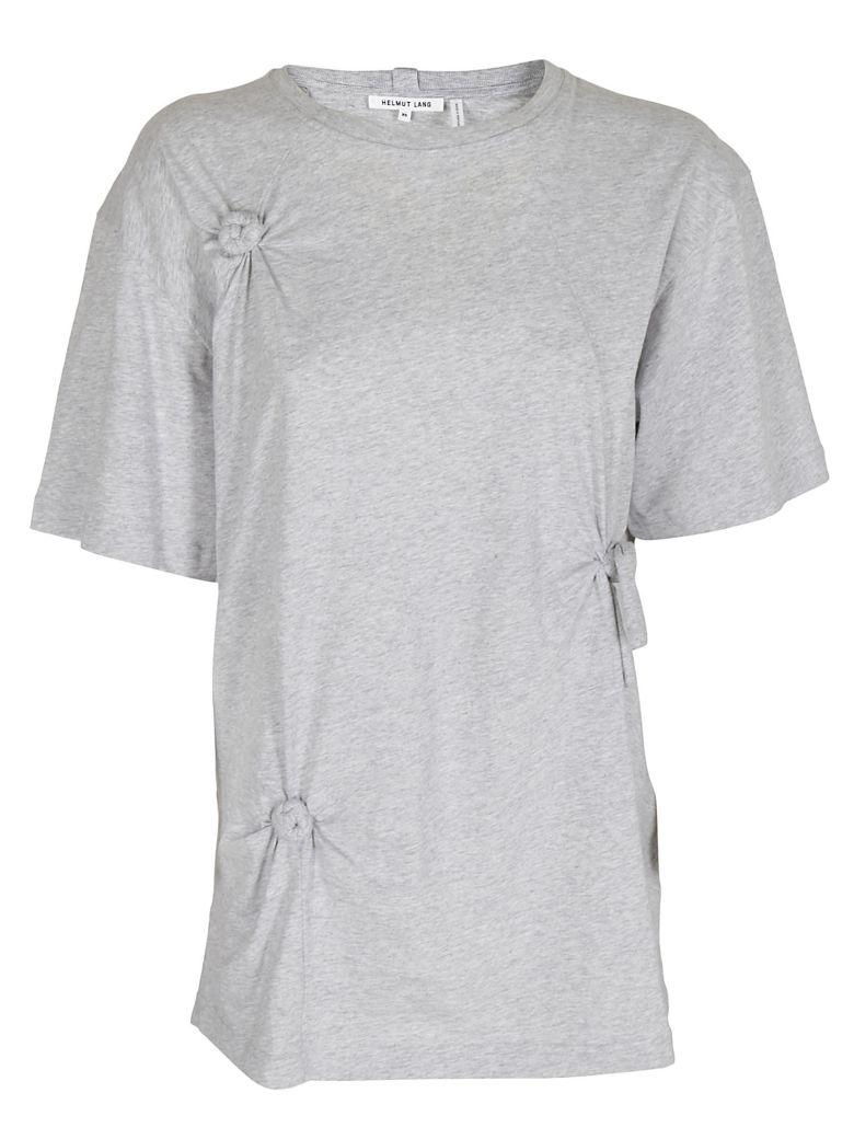 Helmut Lang Knot Detail Oversize Tee In Grigio