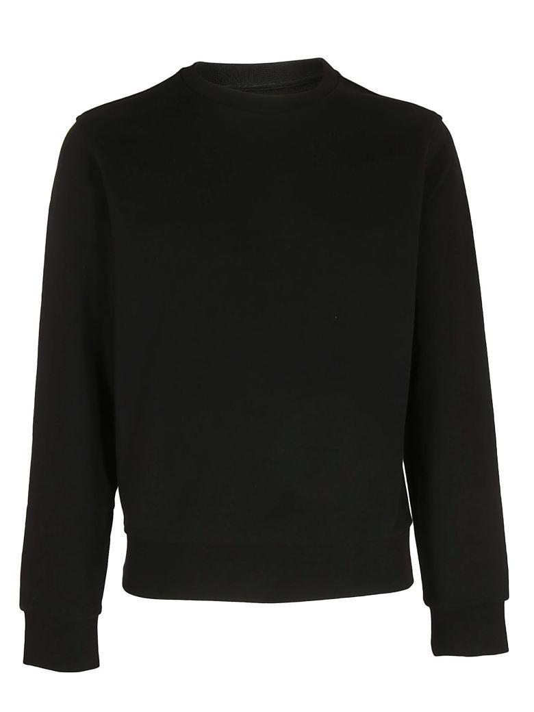 Maison Margiela Elbow-patched Sweatshirt In Nero