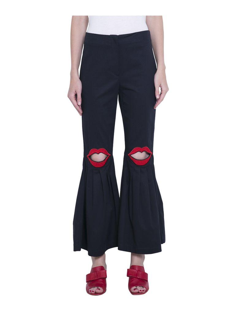 Vivetta Embroidered Pants In Blu