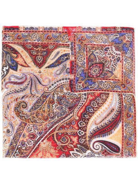 Etro Mixed Paisley Print Scarf - Multicolour