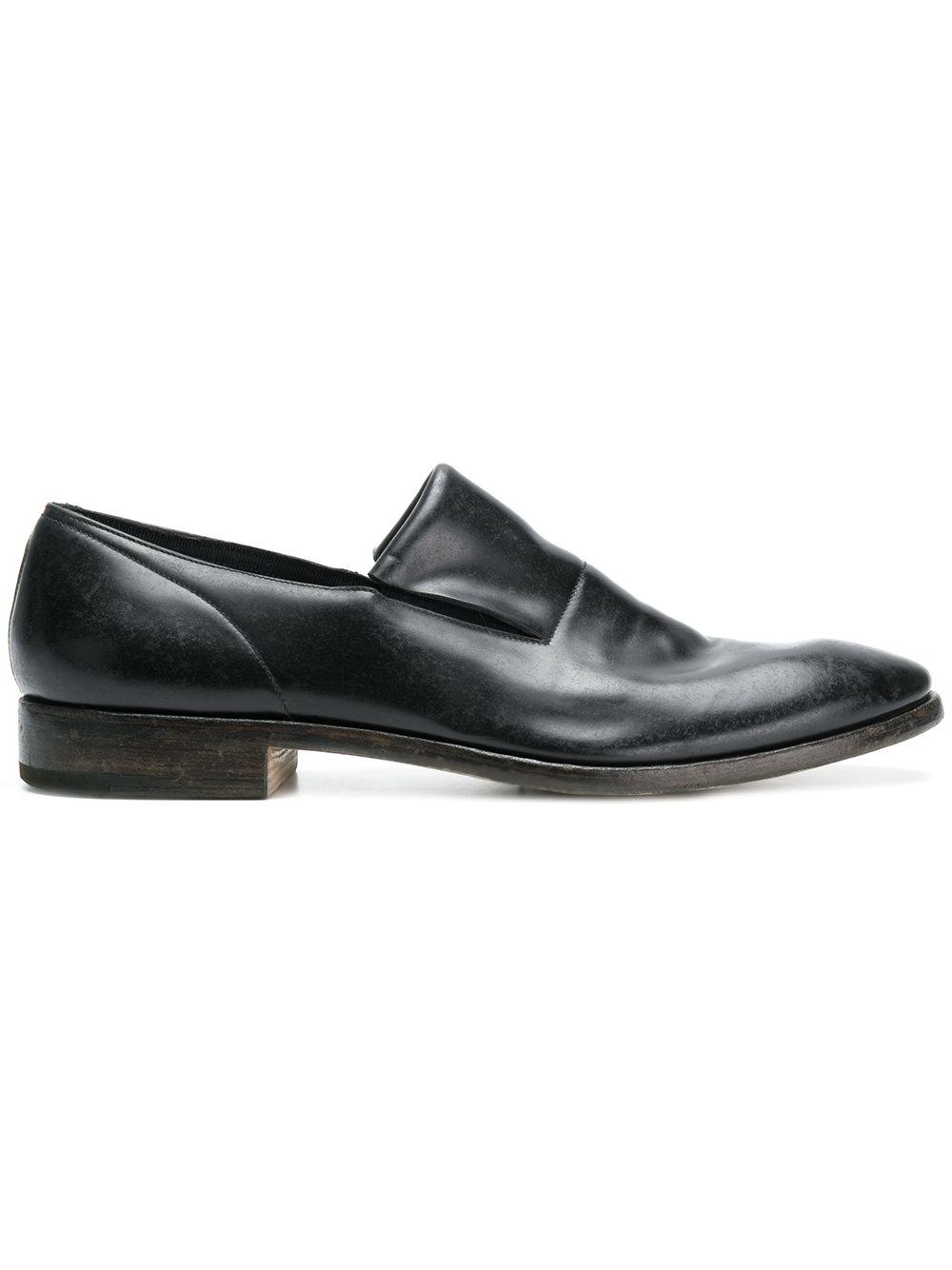 Premiata Varnished Slip-on Loafers - Black
