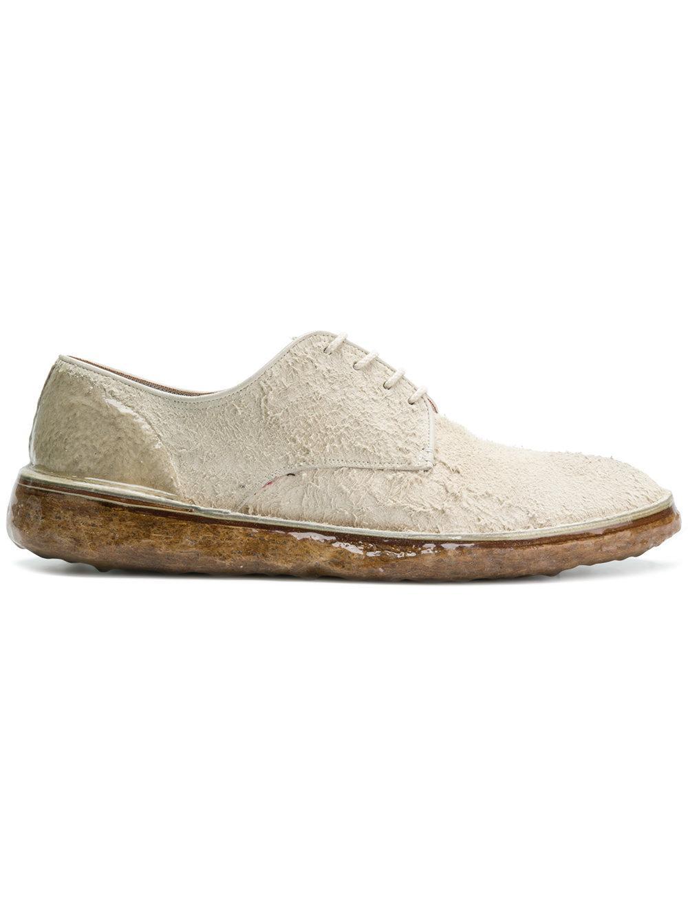 Premiata Textured Lace-up Shoes - Nude & Neutrals