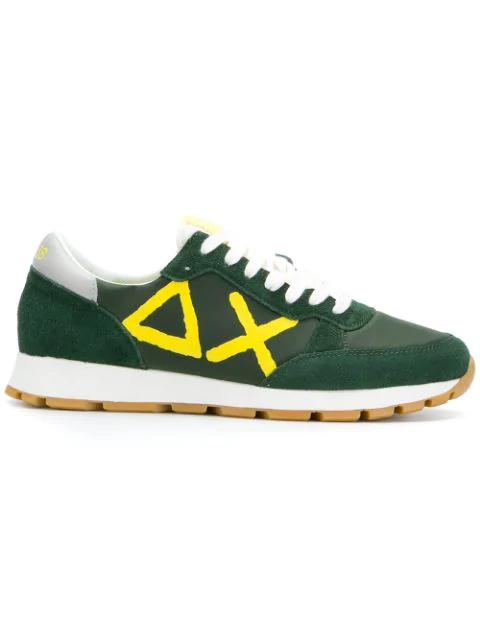 Sun 68 Logo Low-top Sneakers - Green