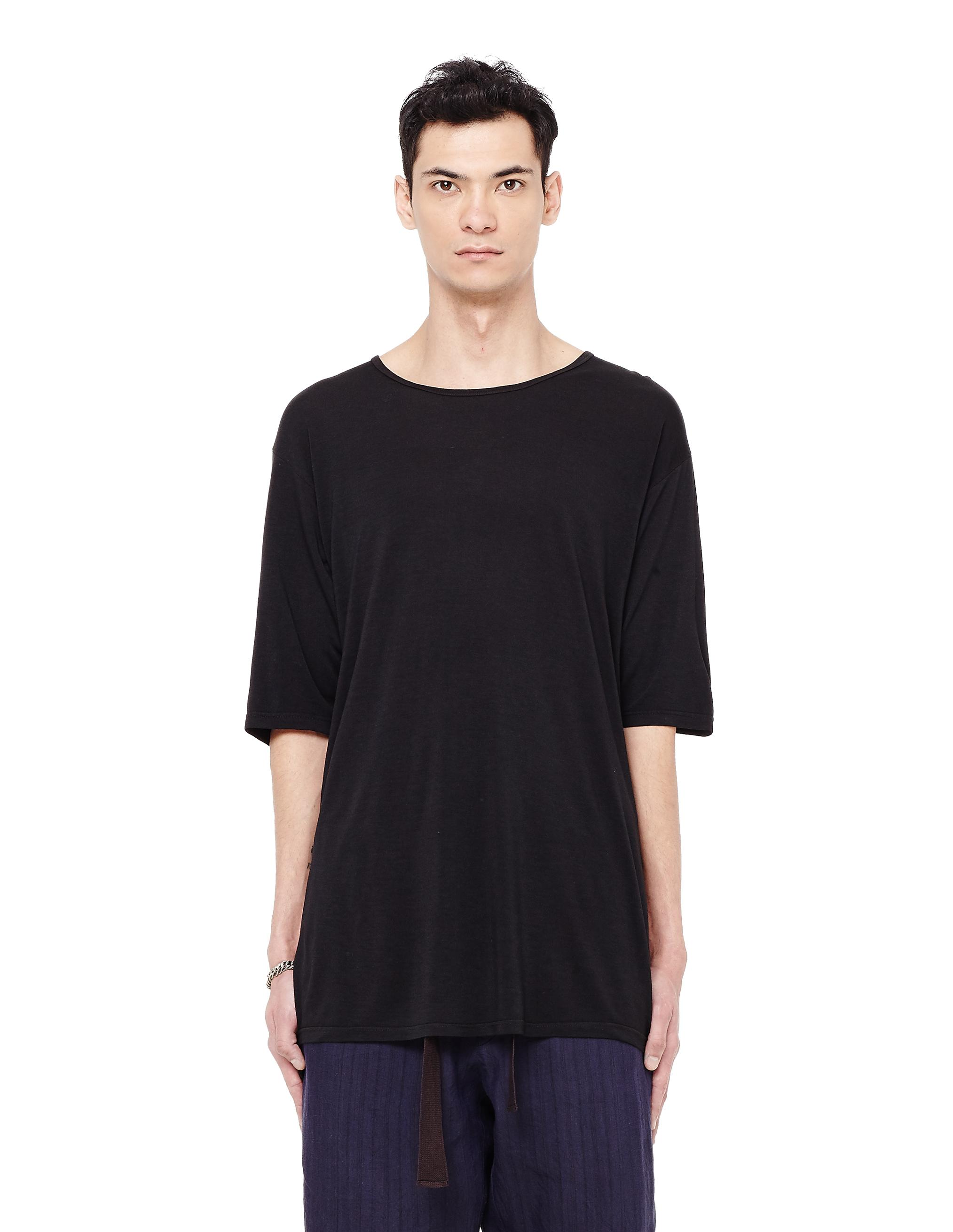 The Viridi-anne Modal Printed T-shirt In Black