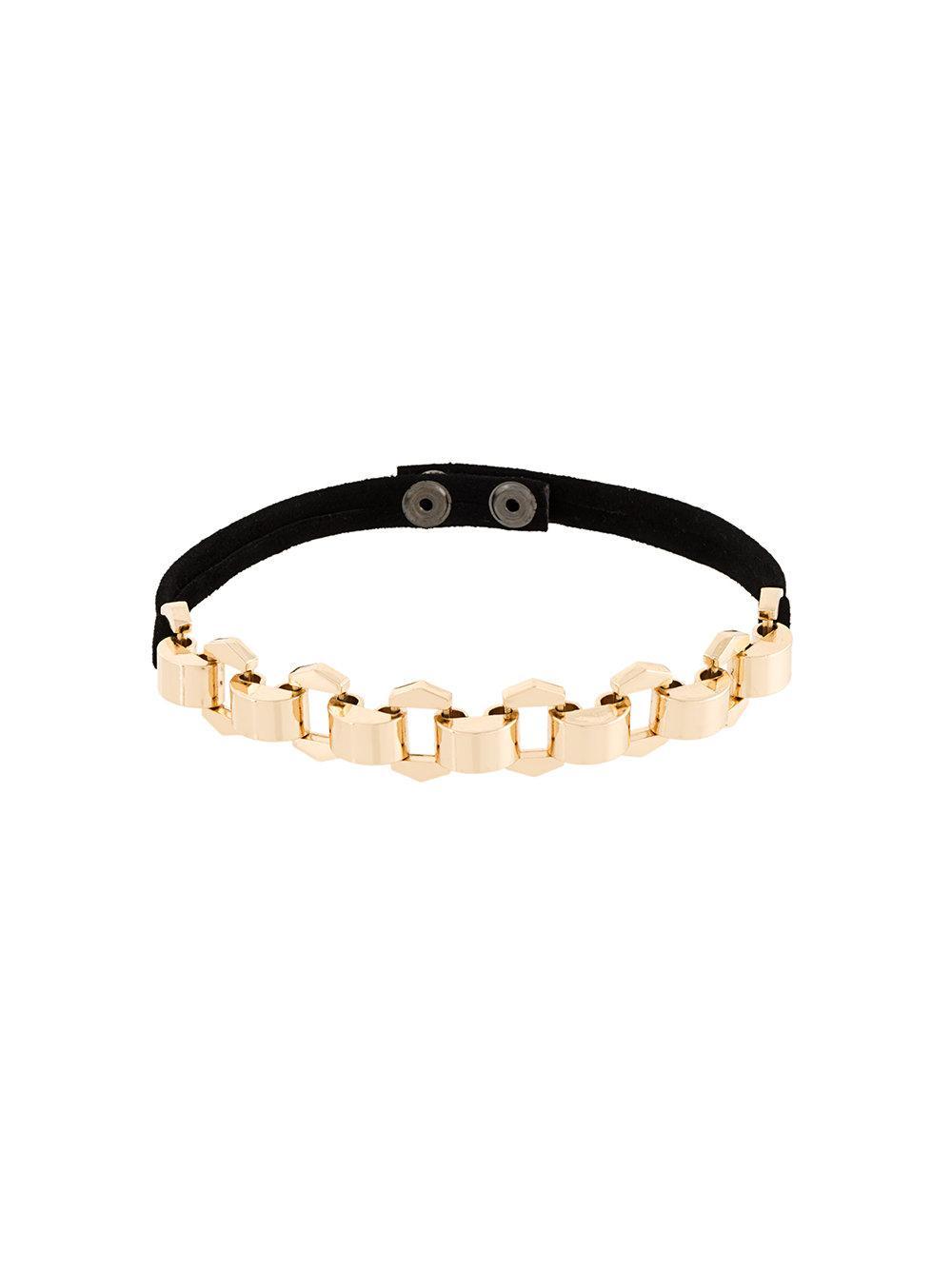 Manokhi Chained Collar - Black