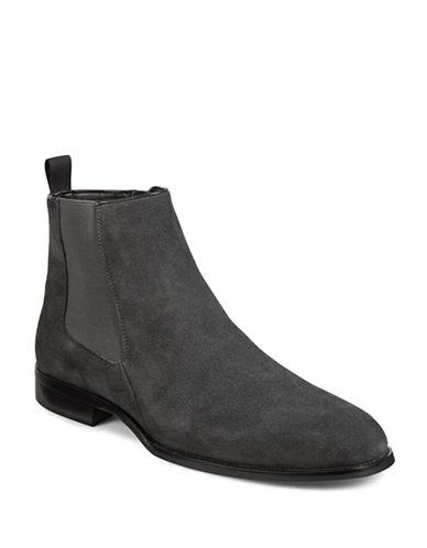 Karl Lagerfeld Suede Chelsea Boots-grey