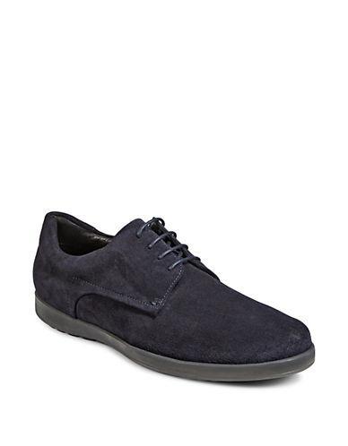 Hugo Men's Classic Flat Leather Derbys-dark Blue