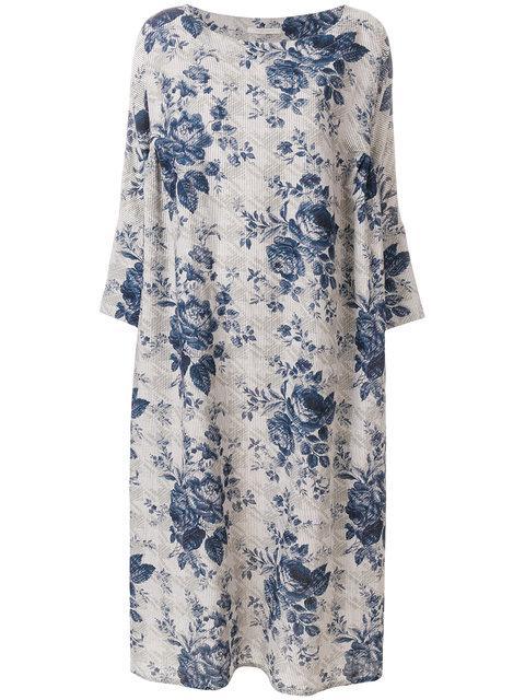 Ermanno Gallamini Printed Kaftan Dress - Neutrals