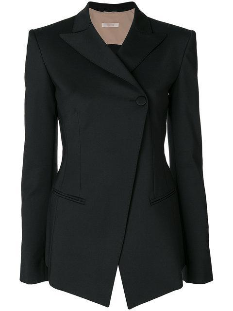 Ssheena Open Back Blazer In Black